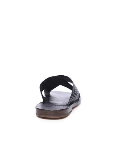 Kemal Tanca Kemal Tanca Erkek Derı Terlik Sandalet Siyah
